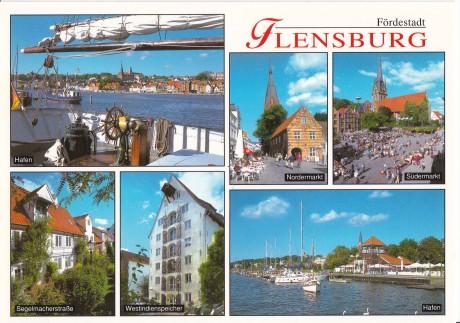 Postkarte Ansichten von Flensburg