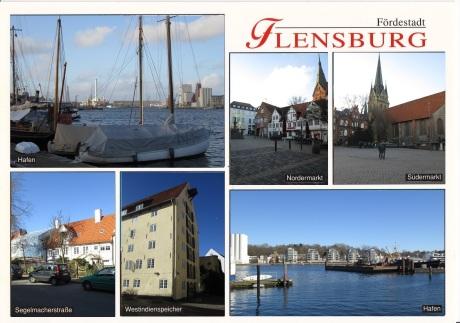 """""""Anti-Postkarte"""" Ansichten von Flensburg"""