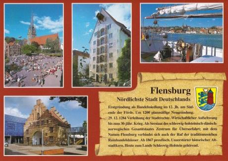 Postkarte Flensburger Geschichte