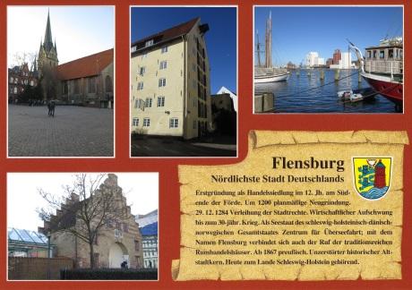 """Anti-Postkarte"" Flensburger Geschichte"