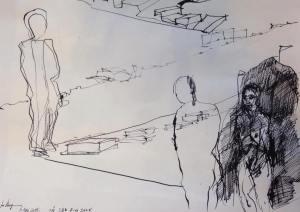 Skizze des Künstlers
