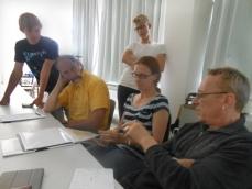 Planungstab bei der Konzeptdiskussion